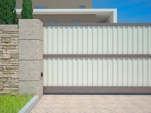 Ворота профилированный лист