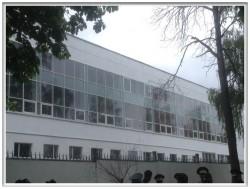 Фасад алюминиевый ALT F50, Институт МВД Могилев, январь 2016