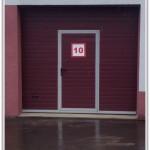 Ворота DoorHan бордо с калиткой, Могилевский РИК, 2013 крупный план