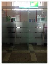 Цельностеклянная перегородка ALT115, банк Москва-Минск, сентябрь 2015