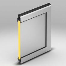 Панель с композитной вставкой. Толщина -26 мм