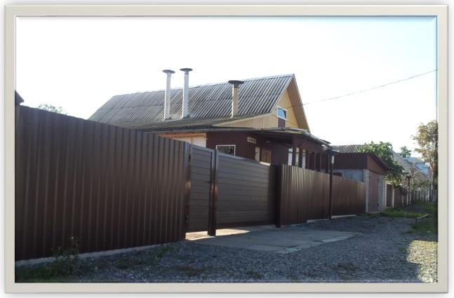 Ворота откатные алюминиевые Алютех с калиткой Калиновского 6 Могилев