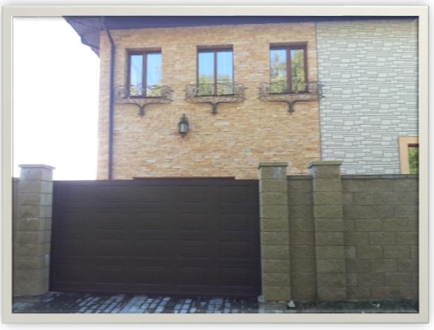 Ворота откатные алюминиевые Филенка 2011 Сурганова Могилев