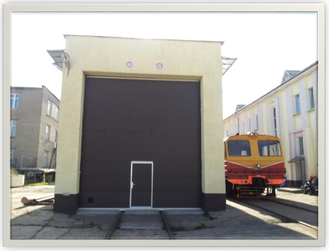 Ворота секционные промышленные Могилевская дистанция сигнализации