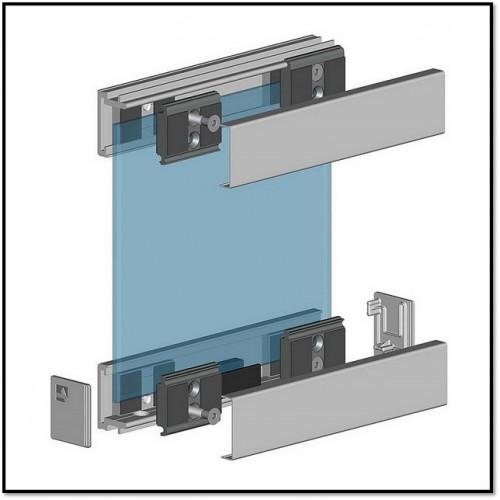 Система цельностеклянных перегородок ALT115