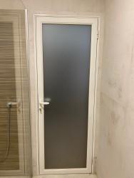 Стеклянная дверь серия ALUTECH 111. Могилев, д. Половинный лог